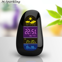 Weather Forecast Temperature Humidity Tester Desktop Alarm Clock Thermometer Hygrometer LED Digital Wireless Digital Alarm Clock az8760 digital dry hygrometer greenhouse dry bulb thermometer and humidity figures temperature tester instrumentation