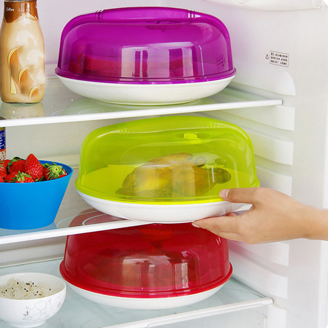 Food Cover Plate Plastic Microwave Oven Refrigerator Vented Splatter Protector Lids Safe Disc Steam Kitchen Gadget