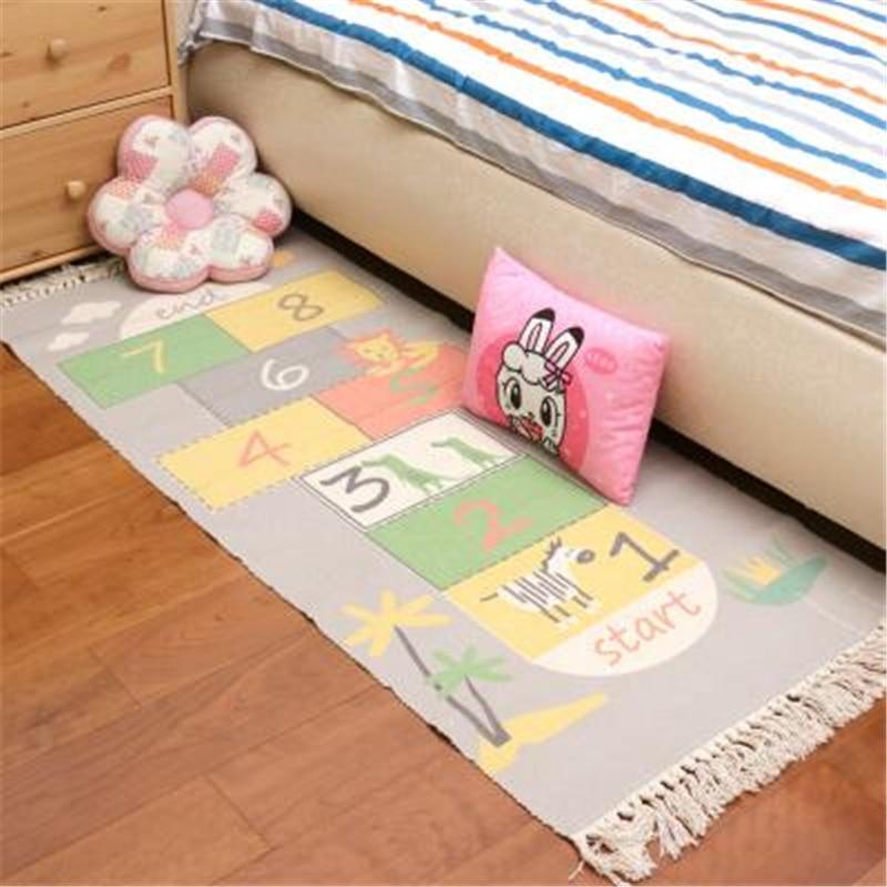 AOVOLL Kid Play coton tapis doux pour salon chambre enfant chambre tapis maison lit tapis plancher porte tapis enfant escalade zone tapis