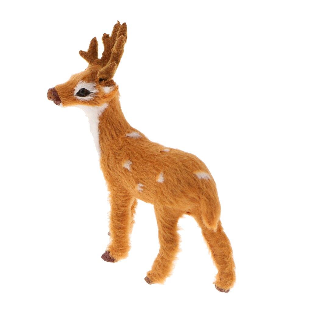 Mini Deer Decorative Artificial Standing Deer Home Craft Art Gift Ornament