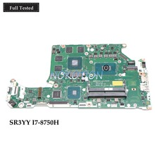 NOKOTION DH5VF LA-F952P laptop motherboard for acer AN515-52 AN515 HD630+GTX 1050 Ti SR3YY I7-8750H CPU Main board