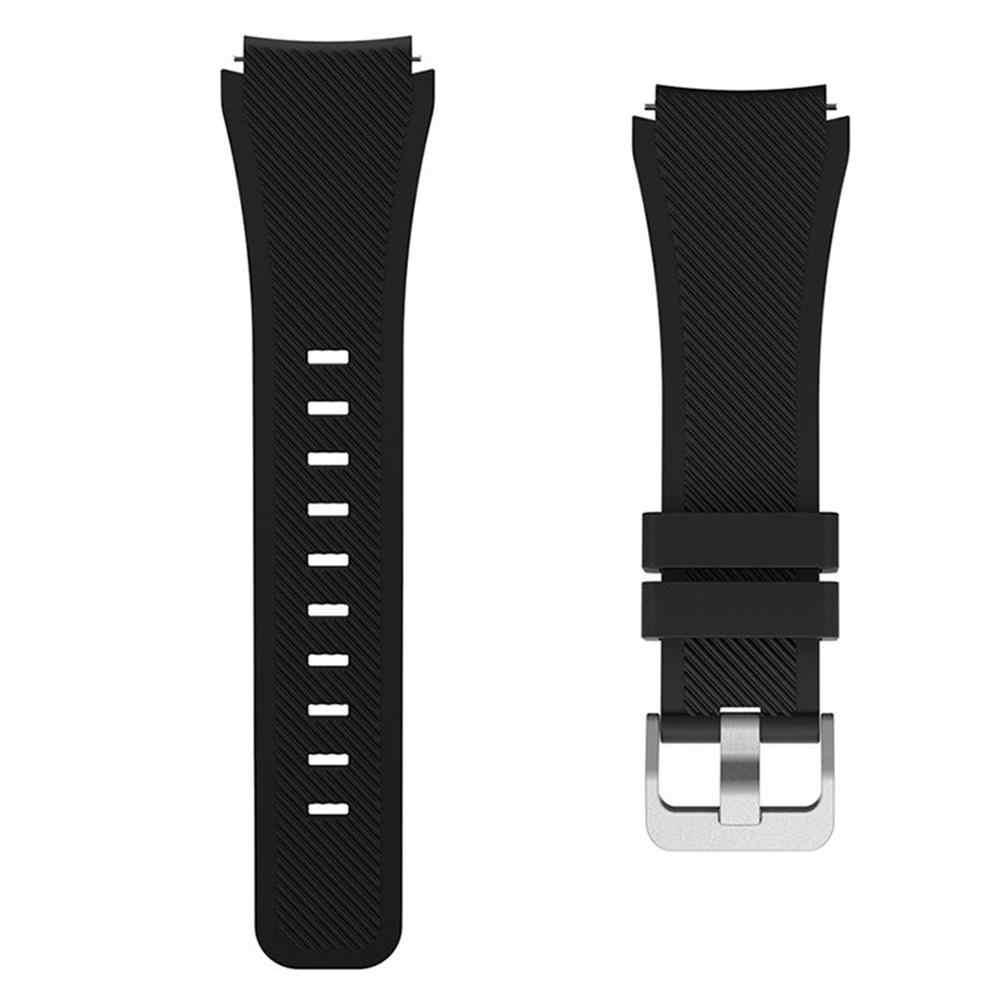 Sanwood Silicone Replacement Wrist Band Sporty Buckle Watch Strap for Samsung Gear S3