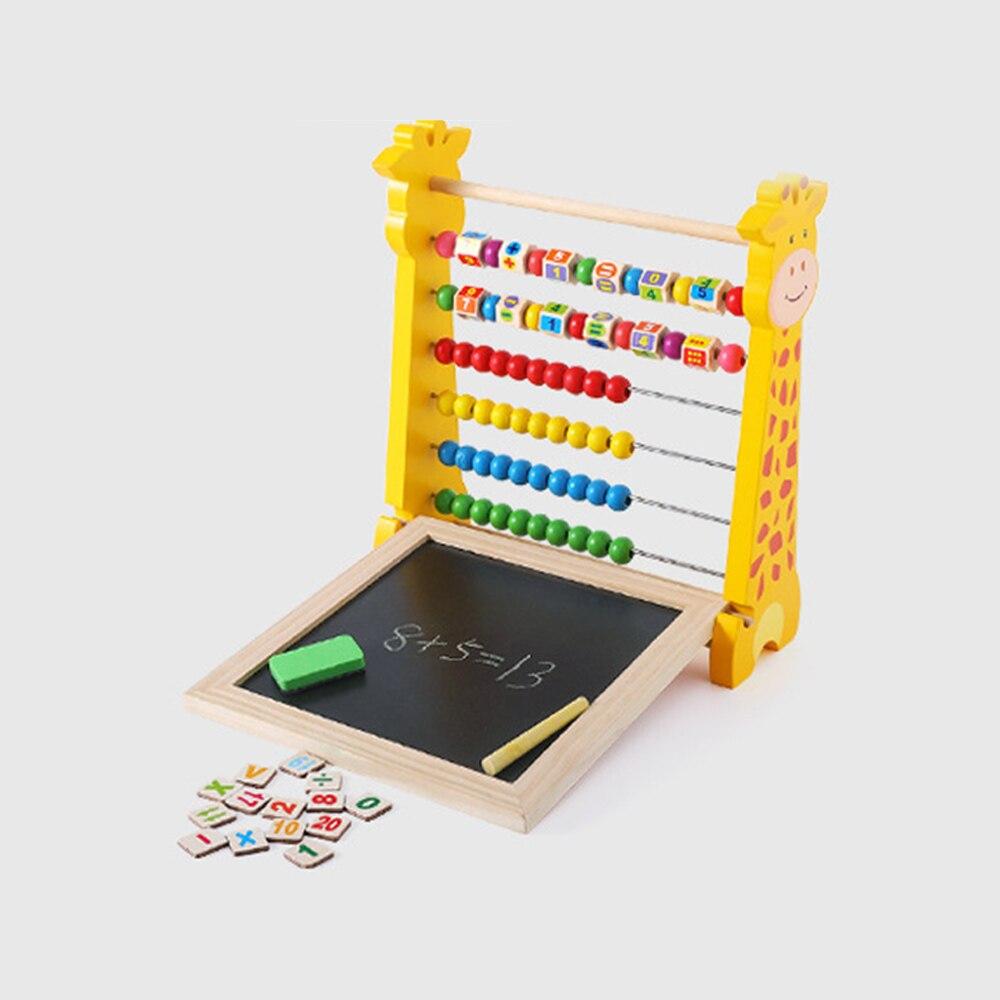 Mini tableau d'écriture de peinture magnétique avec Abacus étagère Rack multifonction préscolaire éducatif calcul mathématique apprentissage jouet
