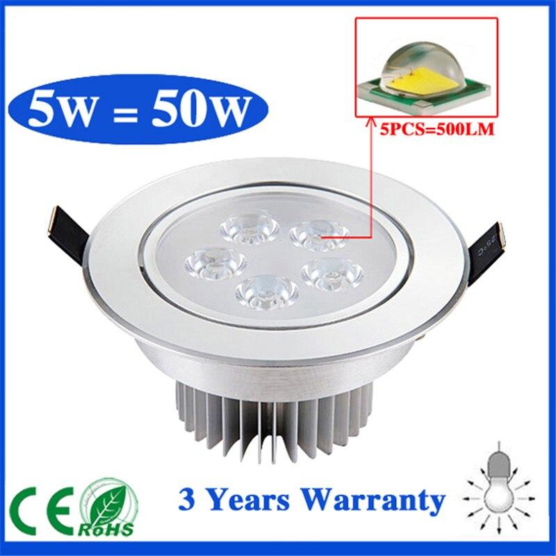 4ks AC85V-265V 3W 5W 7W Stropní downlight Epistar LED lampa Zapuštěné bodové světlo + LED ovladač pro osvětlení domácnosti Dropshipping