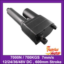 7000N 700KGS 1540LBS Heavy Load 24inch 600mm Stroke 12V DC Heavy Duty 7mm sec Speed Linear