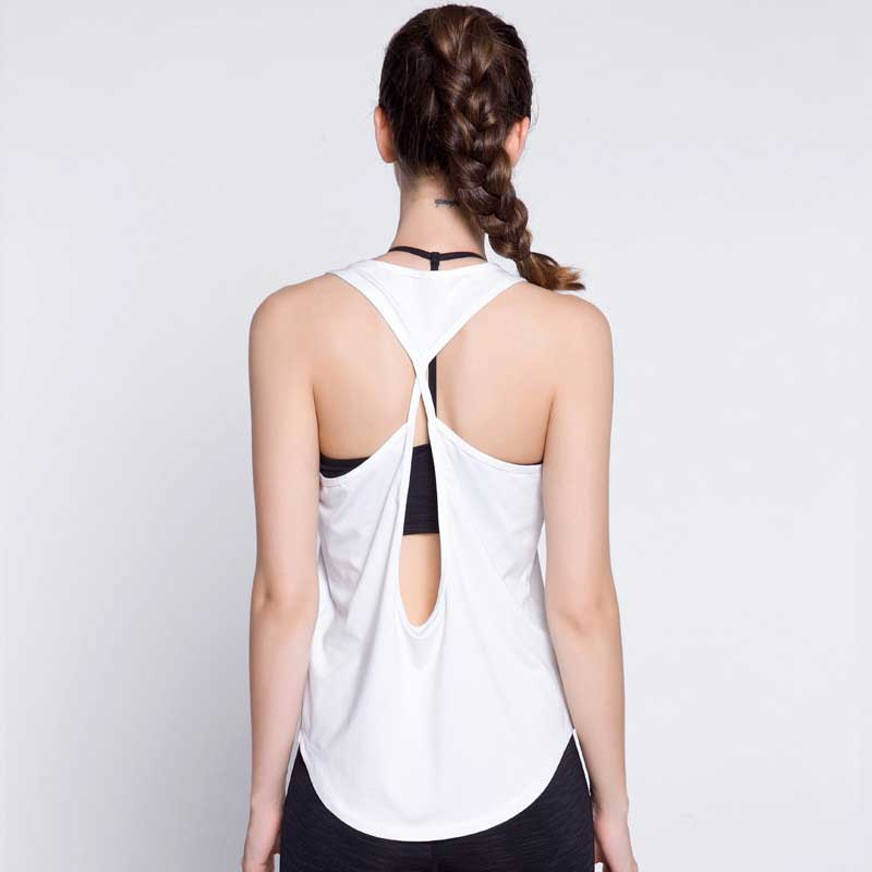 Women Quick Dry Fitness Tops Summer Sexy Tank For Exercise Womens Clothing T-Shirt Female Workout Vest Tee Singlets Clothes