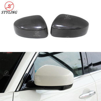 FX35 Real Carbon fiber mirror cover For Infiniti FX37 rear side view mirror cover caps 2009 2010 2011 2012 2013 2014