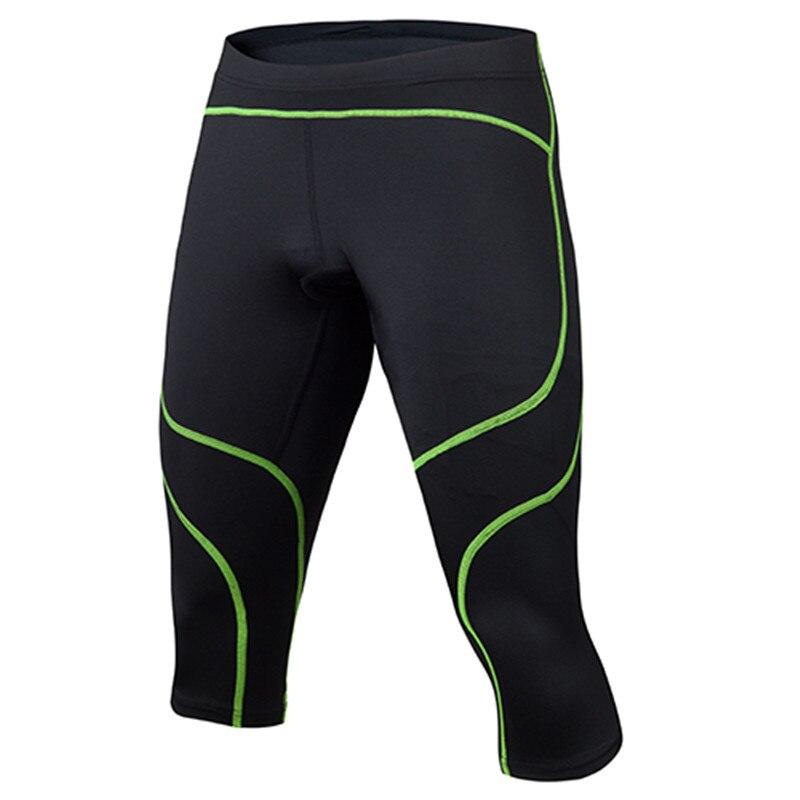 2017 Nuevos Hombres Correr Compresión 3/4 Camisas Pantalones de Entrenamiento de