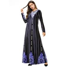 2018 Autumn Winter New Plus Size Vintage Long Dresses Women Bodycon Velvet Dress Party Striped Runway Vestidos 7321