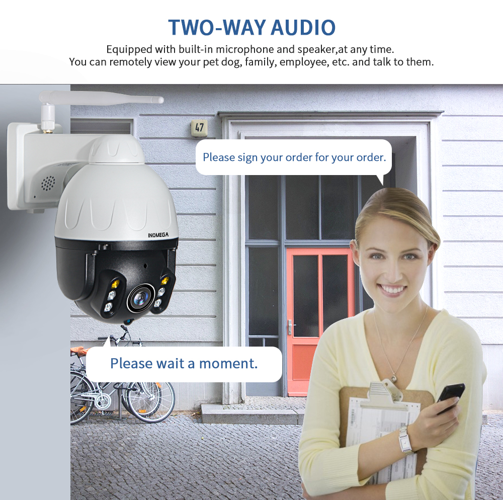 Image 3 - INQMEGA 1080P PTZ IP Camera Auto Tracking Outdoor Onvif Waterproof Mini Speed Dome Camera 2MP IR 30M P2P CCTV Security Camera-in Surveillance Cameras from Security & Protection