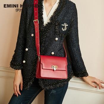 EMINI HOUSE Crossbody Bags For Women Messenger Bag Luxury Handbags Women Bags Designer Split Leather Lady Shoulder Bag Shoulder Bags