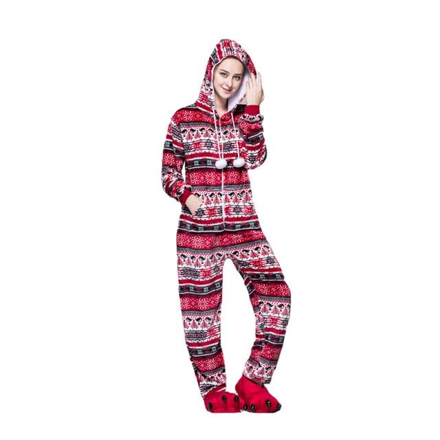 Mùa xuân Mùa Thu Đông Những Người Yêu Thích Cặp Vợ Chồng Phụ Nữ Động Vật Pyjama Một Mảnh Phim Hoạt Hình Đồ Ngủ Dài tay Homewear Onsies Pijama Set