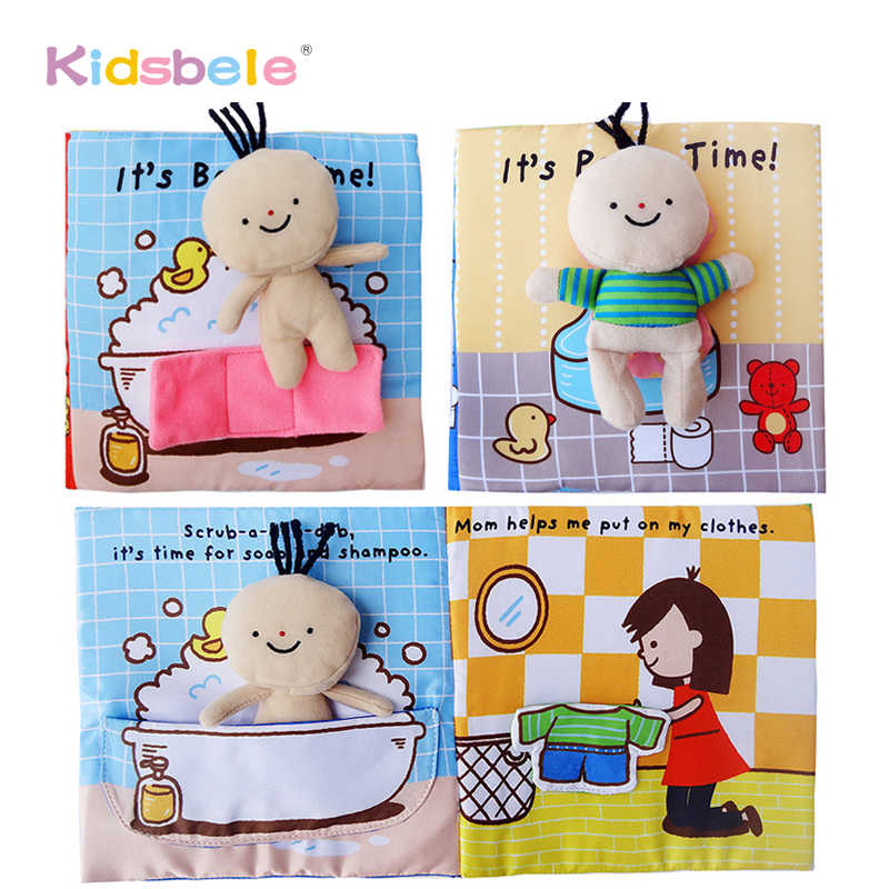 Wholesales Baby Toys Soft Book Educational Infant Toy Potty time/Bathtime Kids Newborn Cognitive Toys For Baby 0-12 Months