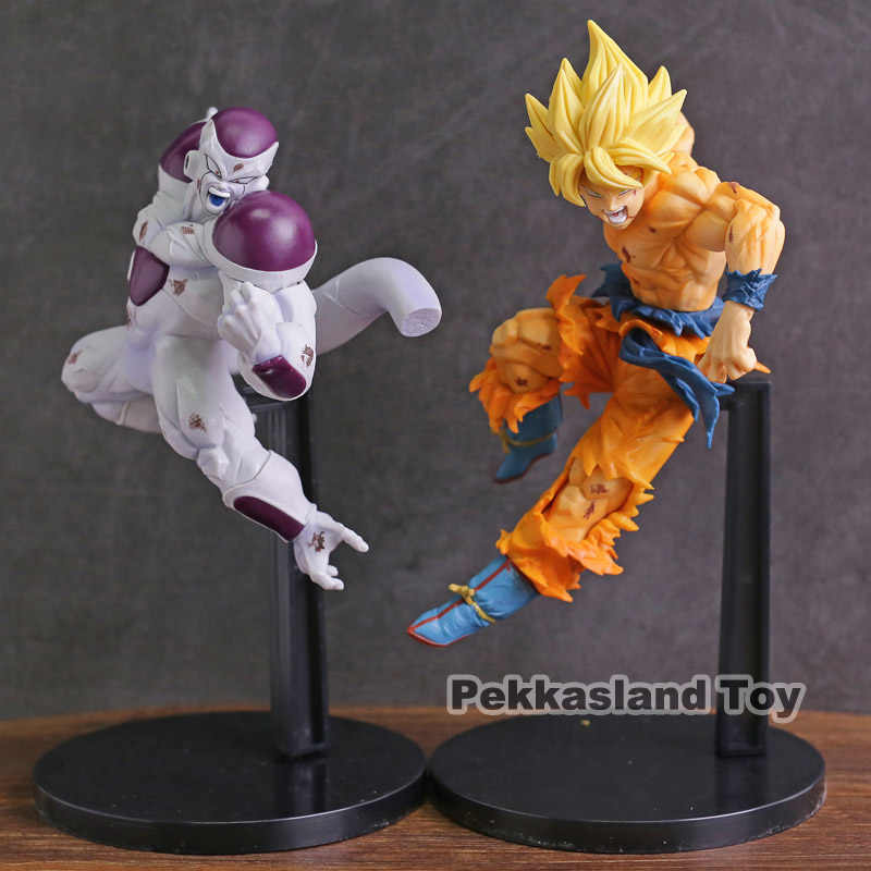 Banpresto dragon ball super z match makers freeza ss son goku figura pvc collectible modelo de brinquedo