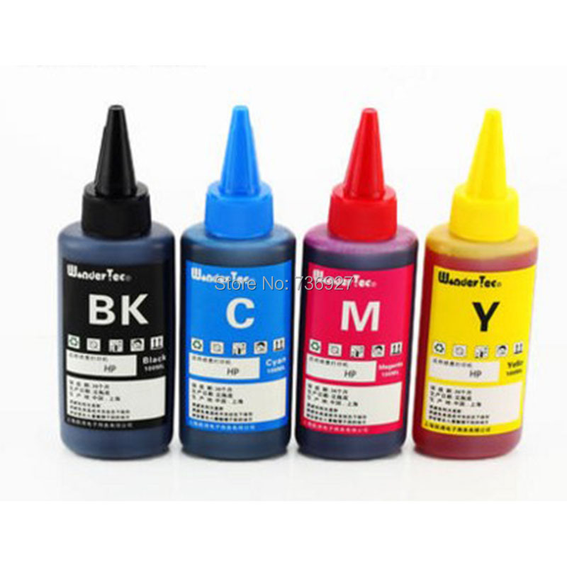 4X 100ml <font><b>Refill</b></font> Dye ink for HP932 HP933 <font><b>HP</b></font> 932 <font><b>933</b></font> , suit for Officejet 6100 6600 6700 7110 7610 7612 7510 7512 printer image