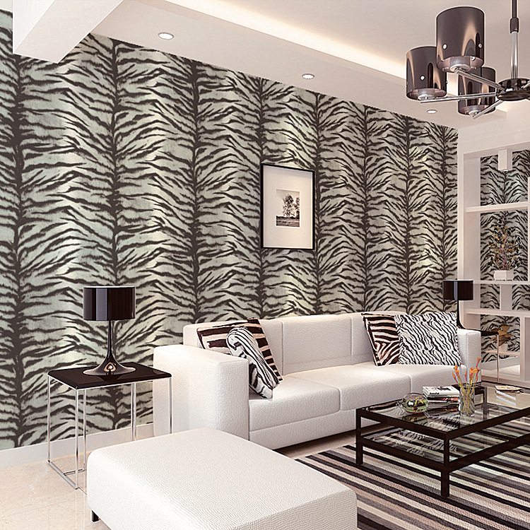 Three Dimensional Non Woven Tiger Wallpaper Simple Modern Cool Leopard Bedroom Wall Tv Background In Wallpapers From Home
