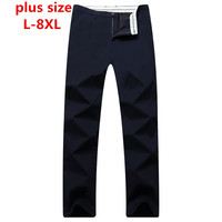 Plus Size 8XL 6XL 5XL 4XL Spring Summer New Fashion 2017 Slim Straight Men Casual Pants