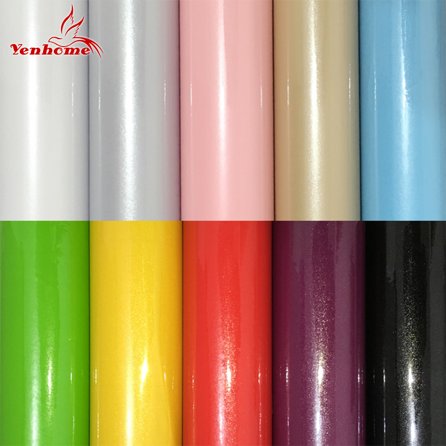 New 61cm wide pvc vinyl films self adhesive wallpaper for Best brand of paint for kitchen cabinets with no step sticker