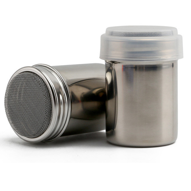Stainless Steel Chocolate Shaker Icing Sugar Powder Cocoa Flour Coffee Sifter Freeshipping