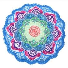 c05e1da63a Tassel Indian Toalla Mandala Tapestry Beach Towel Sunblock Round Bikini  Cover-Up Blanket Lotus Bohemian Yoga Mat
