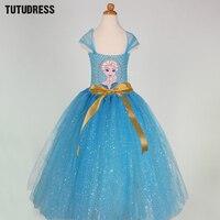 Summer Kids Baby Girls Tutu Dress For Party Elsa Anna Princess Dresses Children Clothing Snow Queen
