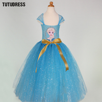 Summer Kids Baby Girls Tutu Dress For Party Elsa Anna Princess Dresses Children Clothing Snow Queen