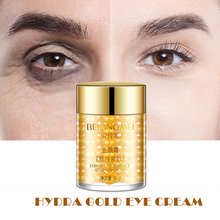 60g Gold Eye Cream Collagen Hydra Moisturizing Eye Gel Remove Eye Bag Anti Puffiness Dark Circles Remove Anti Wrinkles Care Pro electric thermal eye massager eye care beauty instrument device remove wrinkles dark circles puffiness massage relaxation