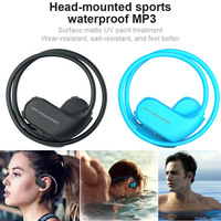 Newly IPX8 Waterproof Wearable MP3 Player MP3 Earphones for Running Swimming