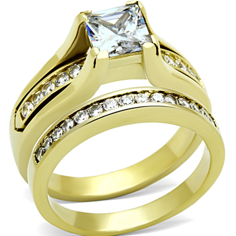 Size 5 to 11 Gold Wedding Engagement Promise Propose ...