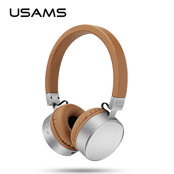 USAMS Original Bluetooth Headset Stereo Heavy Bass Microphone Wireless Headphones for Computer Mobile Phone Headphones Music