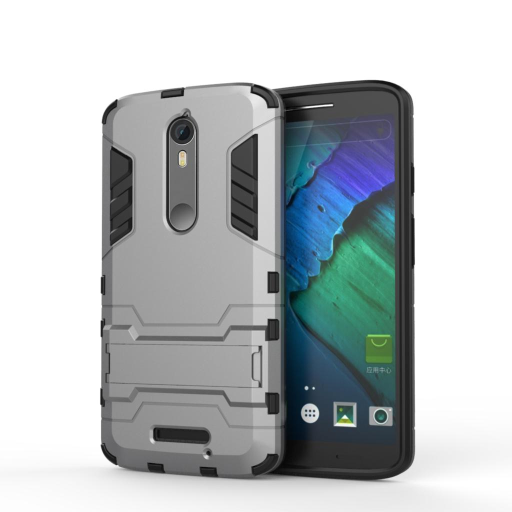 For Motorola Moto X Force Case XT1585 XT1581 Slim Shockproof Robot Armor Hybrid Rubber Hard Cover For Motorola Droid Turbo 2 (