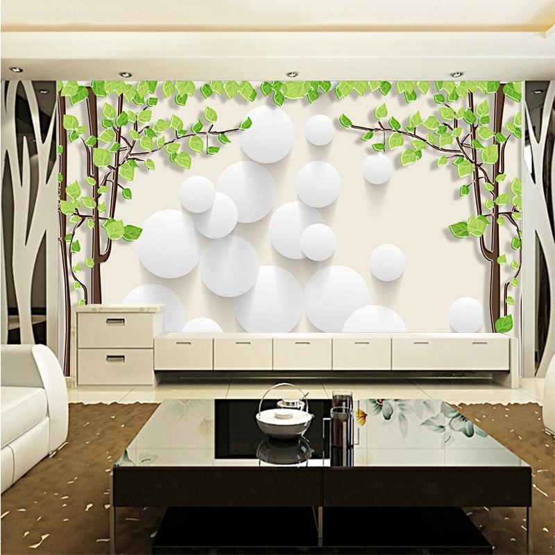 Hot minimalism large mural wall paper Warm romantic wedding background wallpaper fresh trees white air balloon photo