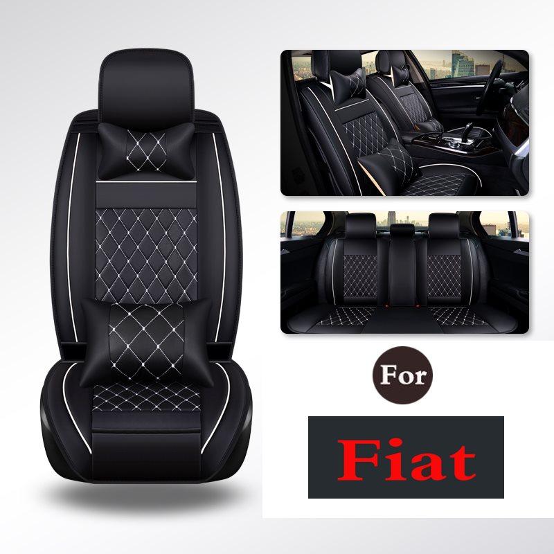 Empêche l'usure des housses de siège auto en cuir synthétique polyuréthane gris solide pour conducteur, enfant, chaise bébé pour Fiat Viaggio Ottimo