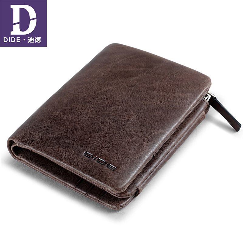 DIDE Coin Purse Handmade Wallet Vintage-Style Credit-Card-Holder High-Quality 100%Genuine-Leather