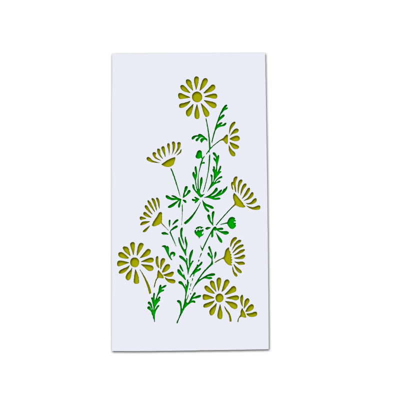 23x12cm Daisy Flower DIY Layering Stencils Wall Painting Scrapbook Coloring Embossing Album Decorative Card Template