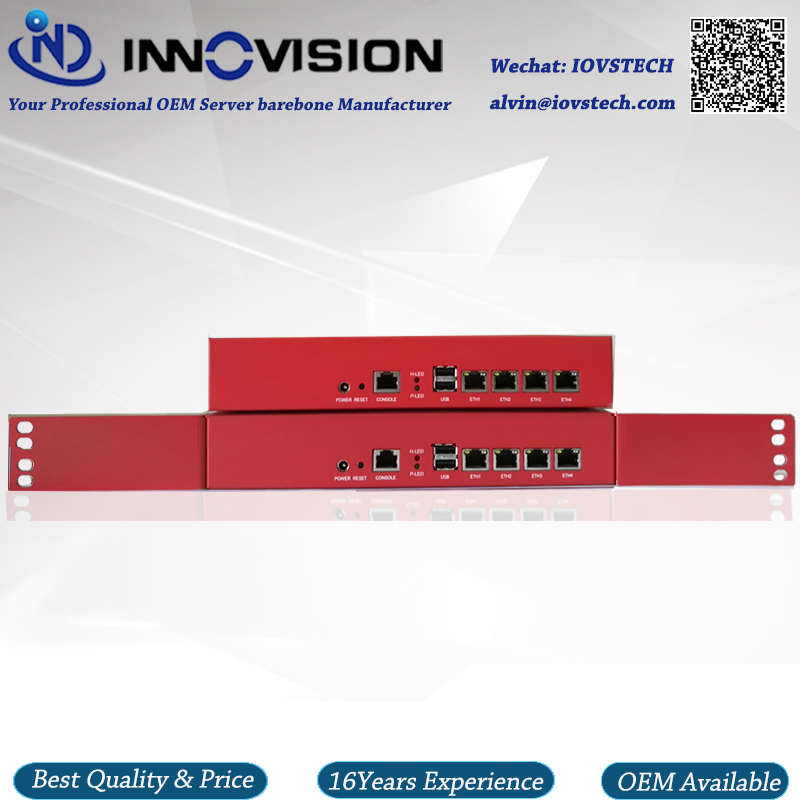Mini 1U Desktop 4GBe Lans met quad core J1900 processor netwerk server barebone