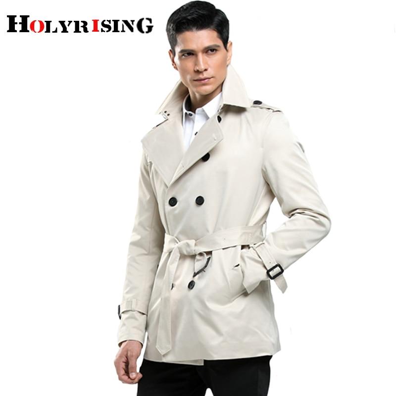 Holyrising Men   Trench   Coat Slim Coats Casual Streetwear Windbreak Mens Clothing Shorts Vintage Overcoat Size S-4XL 18746-5