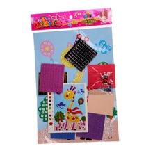 Random Pattern 1PC Baby Kid Developmental Toy 3D Crystal Mosaics Art Sticker Educational Craft Toys Decorations