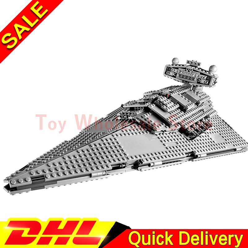 Lepin 05062 Star battle Series Imperial SuperStar Destroyer Set Educational Building Blocks Bricks lepins Toy Gift Clone 75055 lepin 05028 3208pcs star wars building blocks imperial star destroyer model action bricks toys compatible legoed 75055