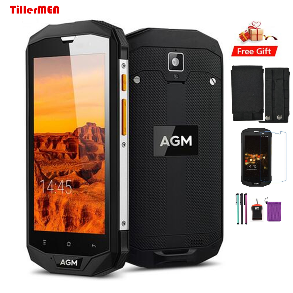 Original AGM A8 Phone Waterproof IP67 Shockproof 3GB RAM 32GB ROM 13MP NFC 4050 MAh 5