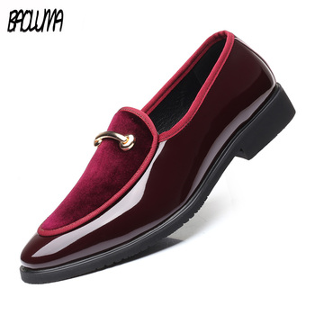 New Men Dress Shoes Shadow Leather Luxury Fashion Groom Wedding Shoes Men Luxury Italian Style Oxford Formal Shoes