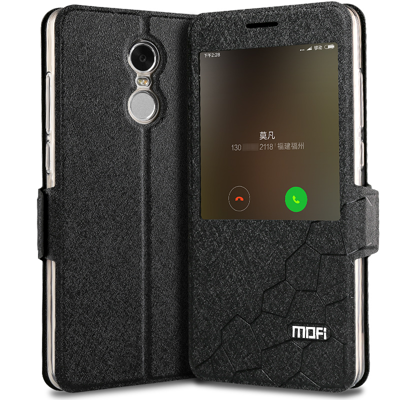 detailed look 789eb 43c45 US $10.4 13% OFF|xiaomi redmi note 4x cover case leather flip window luxury  snapdragon 3gb 32GB fundas silicone smart xiaomi redmi note 4x cover -in ...