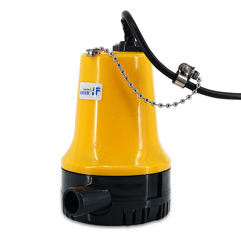 Pompe à courant continu 12 V/24 V Micro pompe domestique utilisation agricole irriguer le sol petite pompe submersible navire réservoir pompe de fond