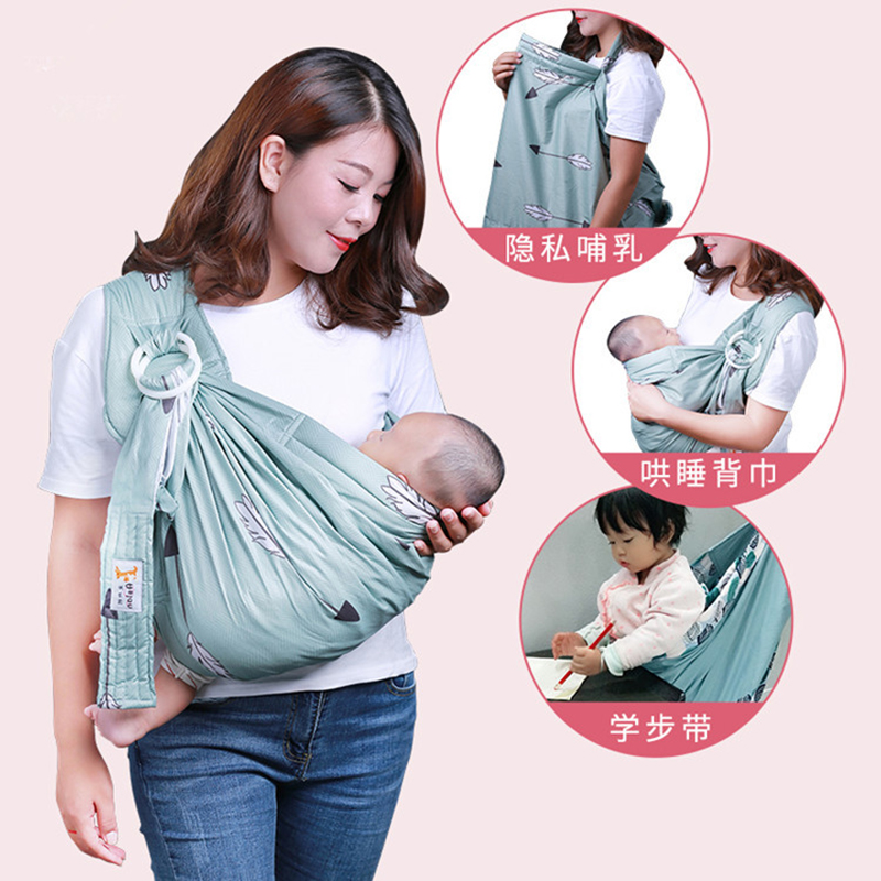 Multifunction Baby Carrier Sling For Newborns Baby Wrap Soft Infant Wrap Breathable Hipseat Breastfeed Comfortable Nursing Cover Backpacks & Carriers     - title=