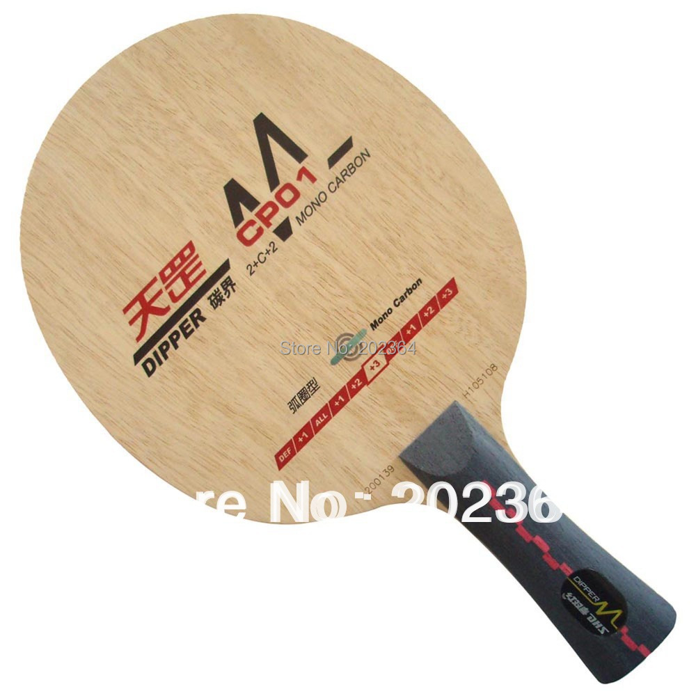 DHS Dipper CP01 (CP 01, CP-01, DM.CP01) Mono-Carbon (Loop Type) OFF++ Table Tennis Blade for PingPong Racket