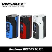 100% original wismec reuleaux rx200s tc caja mod mod 200 w pantalla oled tc200w control de temperatura w/o la batería e-cig firmware actualizable