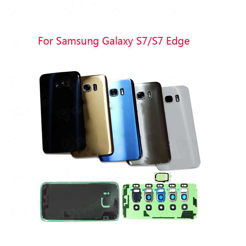For Samsung Galaxy S7/S7 Edge Back Battery Cover Door Rear Glass Housing Case Battery Cover