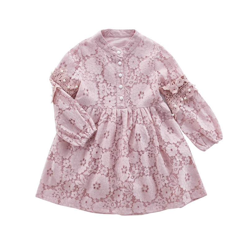 Children Lace Dresses For Girls Clothing Full Sleeve Princess Dresses For Party And Wedding Elegant Girl's Prom Dress 2 3 5 7 12 2 7y princess children girls white lace dress brand new long sleeve toddler kids elegant party dresses one pieces clothing