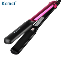 Kemei2113 Negtive Ions Straightening Irons Temperature Ajustable Styling Tools Professional Hair Straightener Rapid Heating