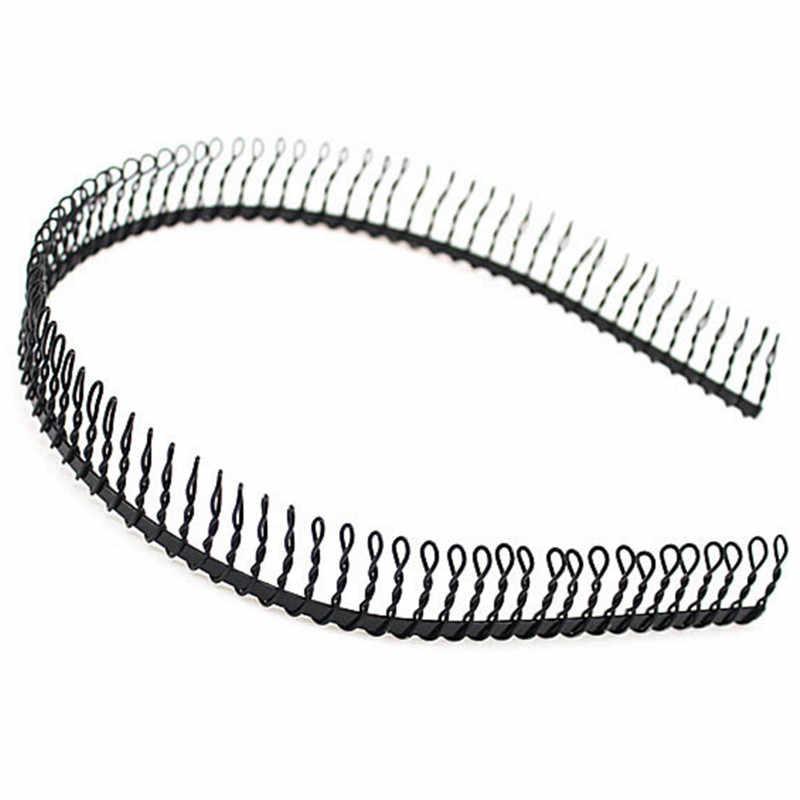1Pcs In Metallo Denti del Pettine Hairband Nero Dei Capelli Del Cerchio Della Fascia